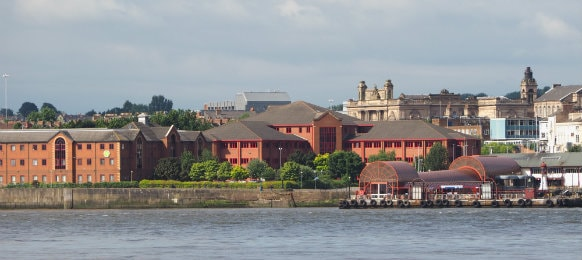 View of Birkenhead in Liverpool