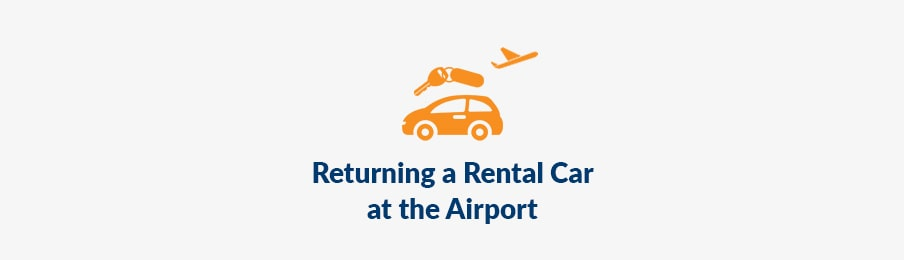 returning rental car at the airport in the UK