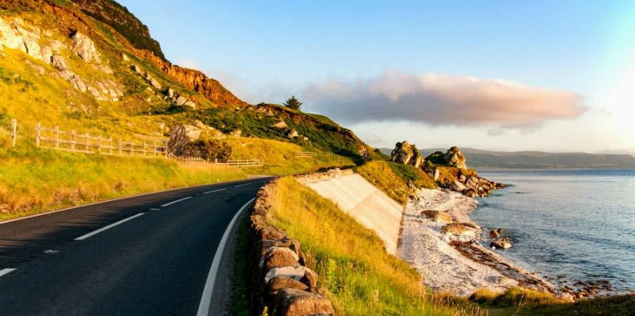 Causeway Coastal Route in Northern Ireland, UK