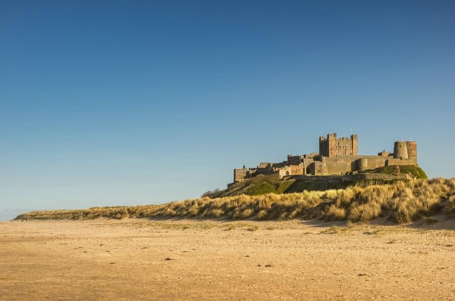 Bamburgh castle beach