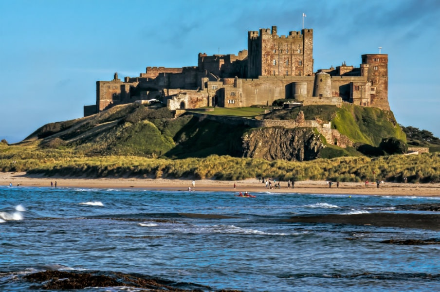 Bamburgh Castle Northumberland view