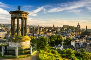 Beautiful view of Edinburgh city, UK