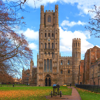 Beautiful view of Ely cathedral in Cambridge