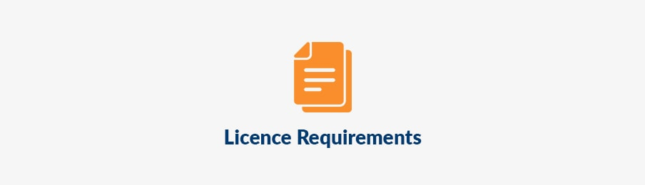 Licence requirements before booking in the UK banner