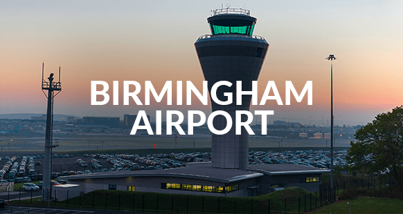 Air Traffic Control Tower at Birmingham Airport