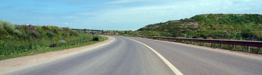 blue sky road trip