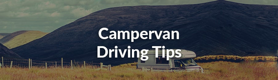 Campervan driving tips in the UK banner