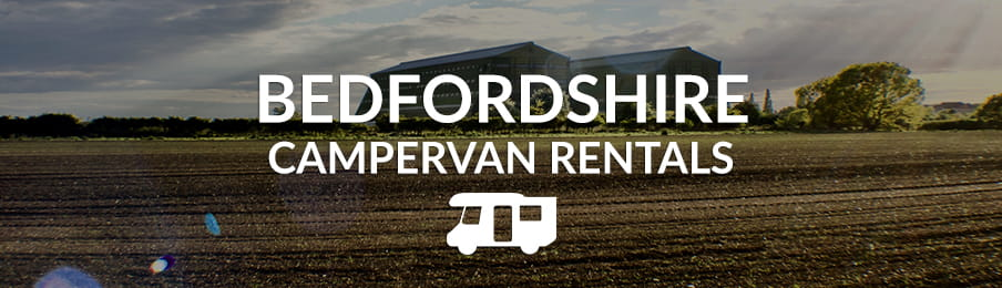 Bedfordshire campervan rentals in the UK banner