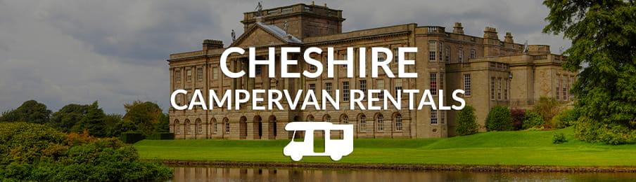 Cheshire campervan rentals in the UK banner