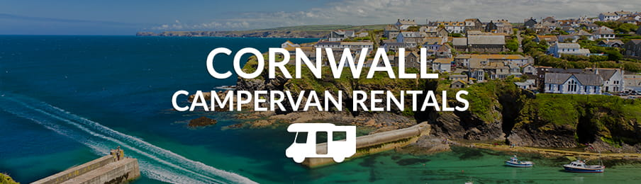 Cornwall campervan rentals banner UK