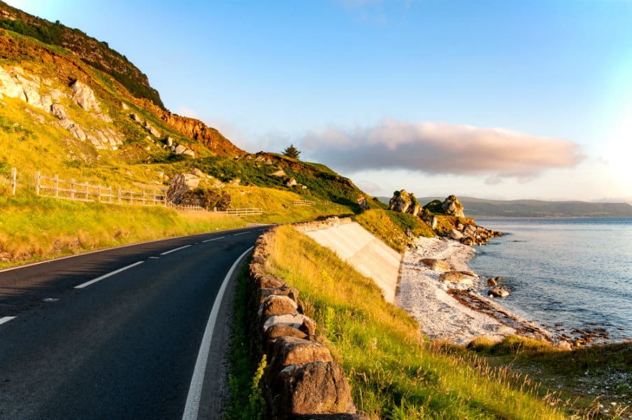 Causeway Coastal Route in Northern Ireland, UK