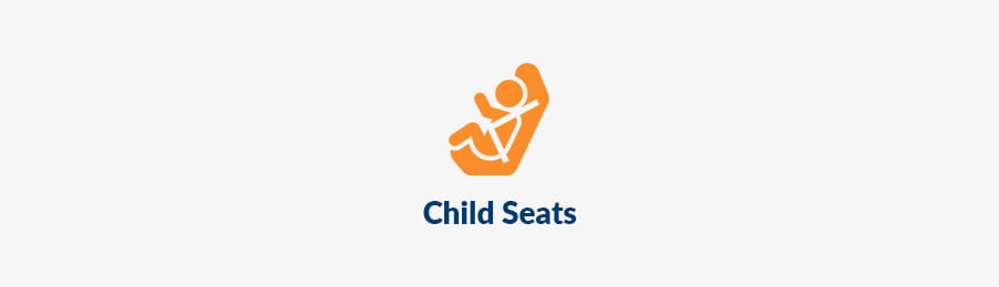 Child seats for rental car extras in the UK banner