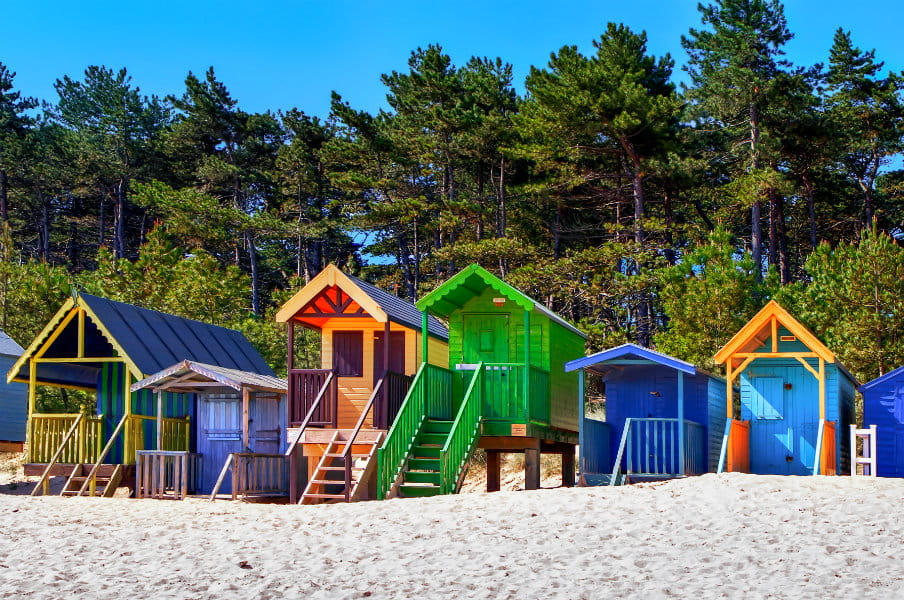Coloured beach huts in Wells next the Sea, Norfolk