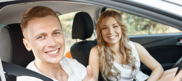 couple in the car hire