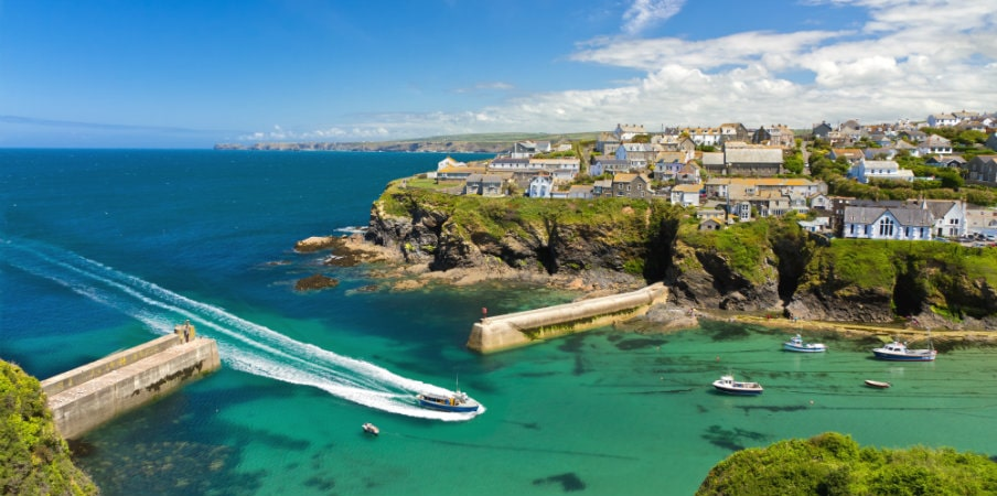 cove and harbour port isaac cornwall uk