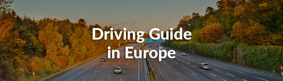 Driving guide in Europe, UK banner