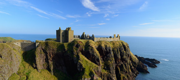 dunnottar castle in aberdeen, scotland