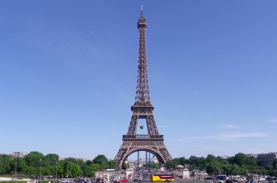 The Eiffel Tower during the French Open