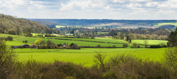 English countryside in spring at Hertfordshire