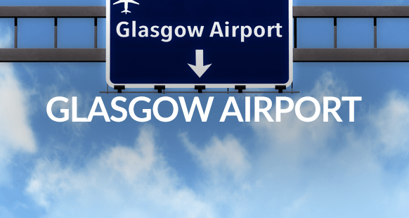 glasgow airport highway road sign