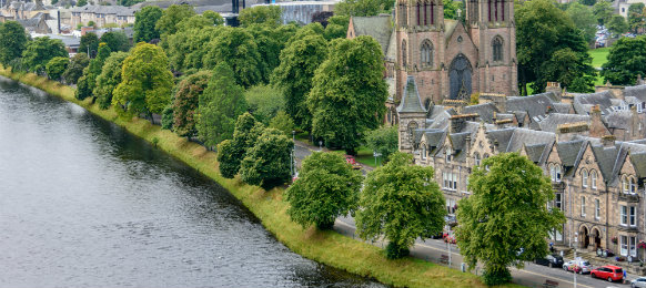 great view in inverness, scotland
