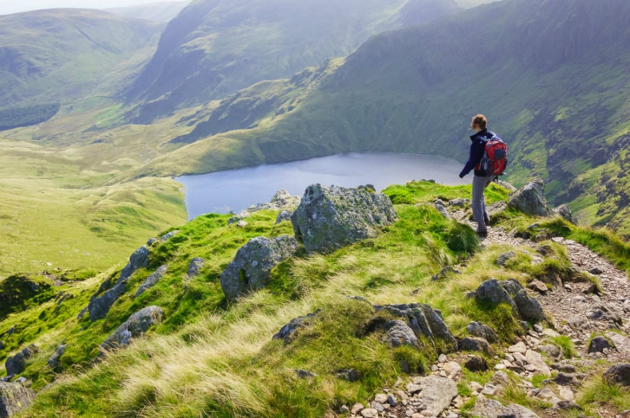 Hiker in the Lake District