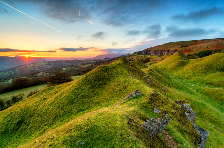 Llangattock Escarpment in the Breacon Beacons, Wales