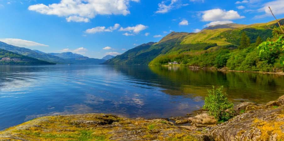 Loch Lomond at Rowardennan, Scotland, UK