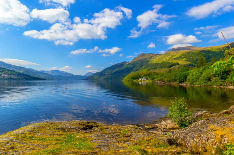 Loch Lomond at Rowardennan, Scotland, UK