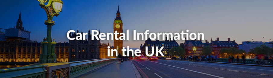 Car Rental Information in the UK