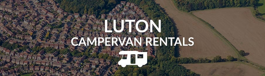 luton campervan rentals in the UK banner