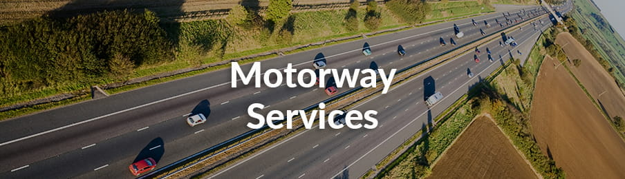 Motorway services in the UK banner
