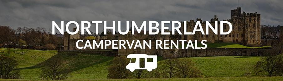 northumberland campervan rentals in the UK banner