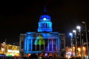 Nottingham Council House, Nottinghamshire in East Midlands at night
