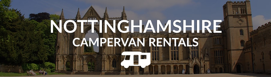 nottinghamshire campervan rentals in the UK banner