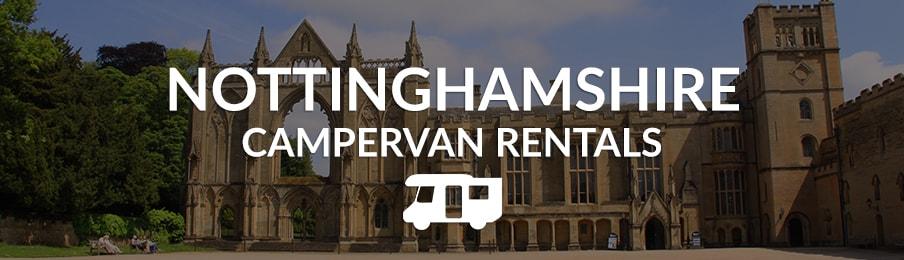 nottinghamshire campervan rentals in the UK banner