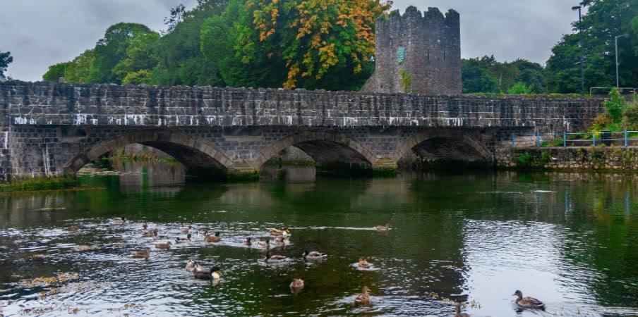 old stone bridge over glenarm river
