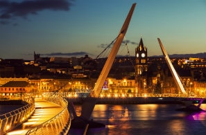 Peace bridge in Derry Northern Ireland, UK