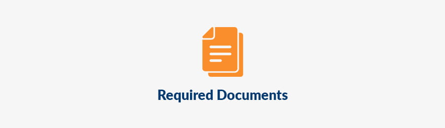 Required documents in the UK banner