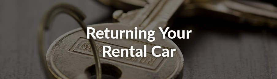 Returning your rental car in Canada banner