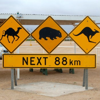 road sign in australian outback