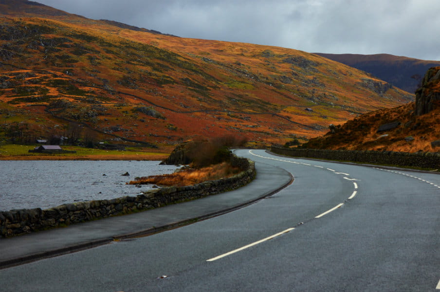 Road through Snowdonia, Wales