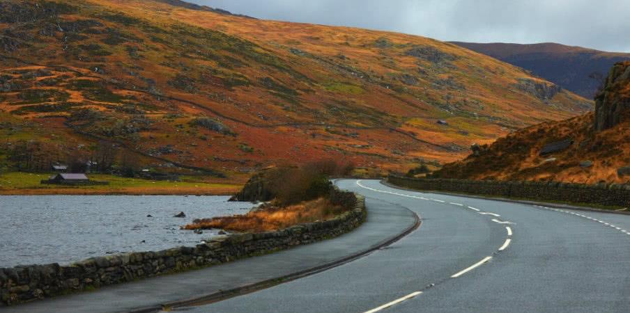 Road through Snowdonia, Wales