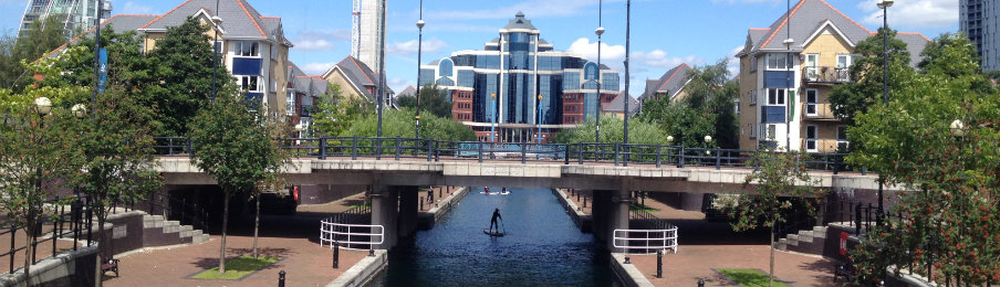 Salford Quays in Manchester, UK