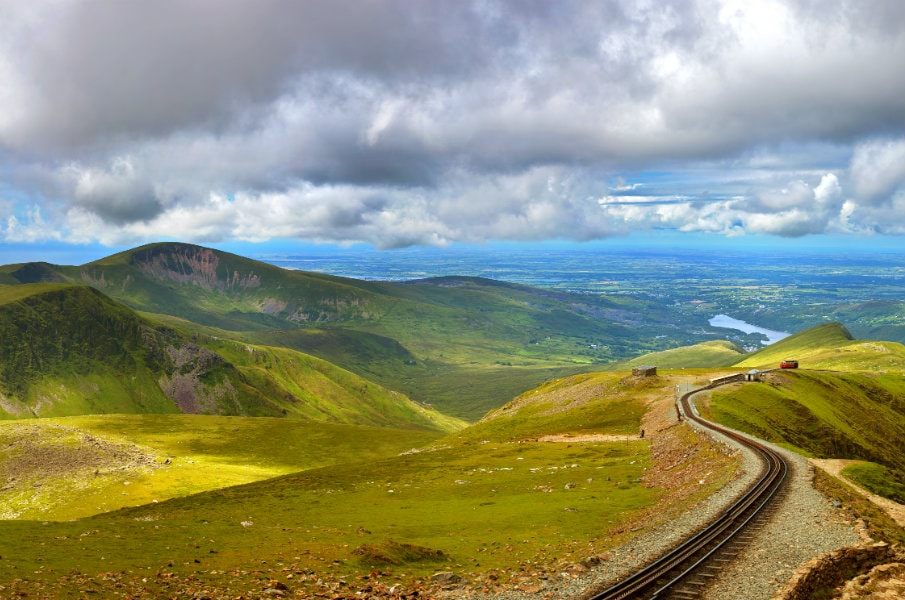 Snowdonia panorama from Mount Snowdon
