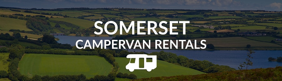 somerset campervan rentals in the UK banner