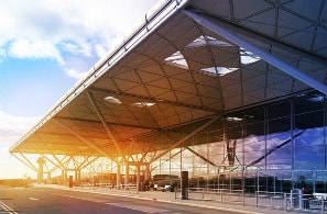 Stansted airport building at London, UK