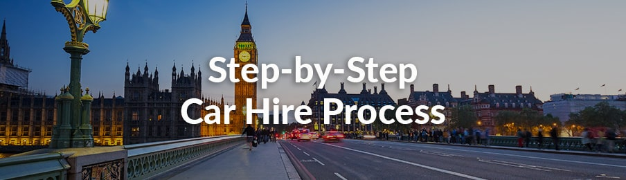 step-by-step car hire process