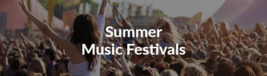 Summer music festivals in the UK banner