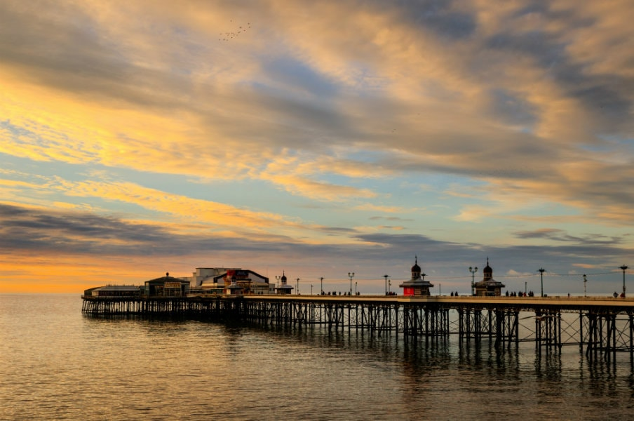 Sunset at Blackpool Pier